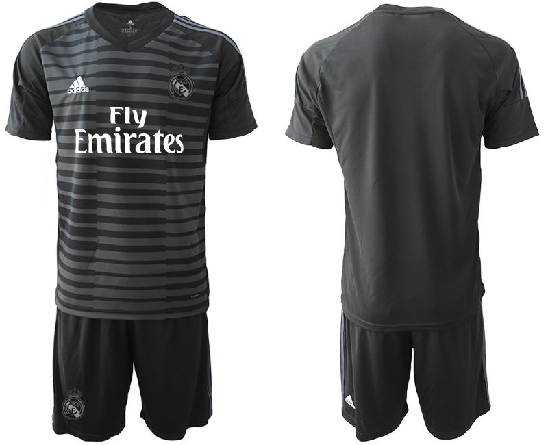 Men 2019-2020 club Real Madrid black goalkeeper Soccer Jerseys