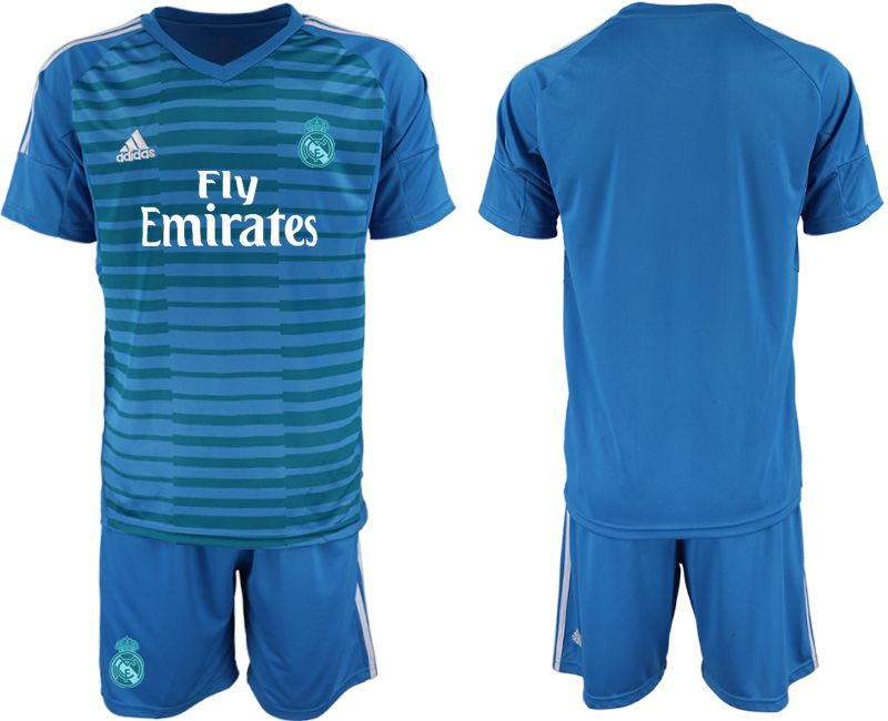 Men 2019-2020 club Real Madrid blue goalkeeper Soccer Jerseys