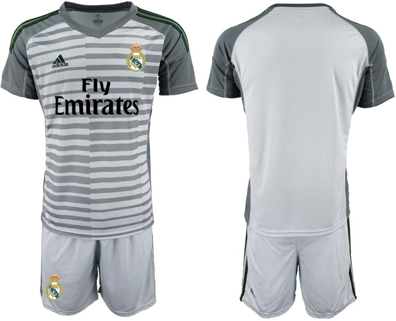 Men 2019-2020 club Real Madrid gray goalkeeper Soccer Jerseys