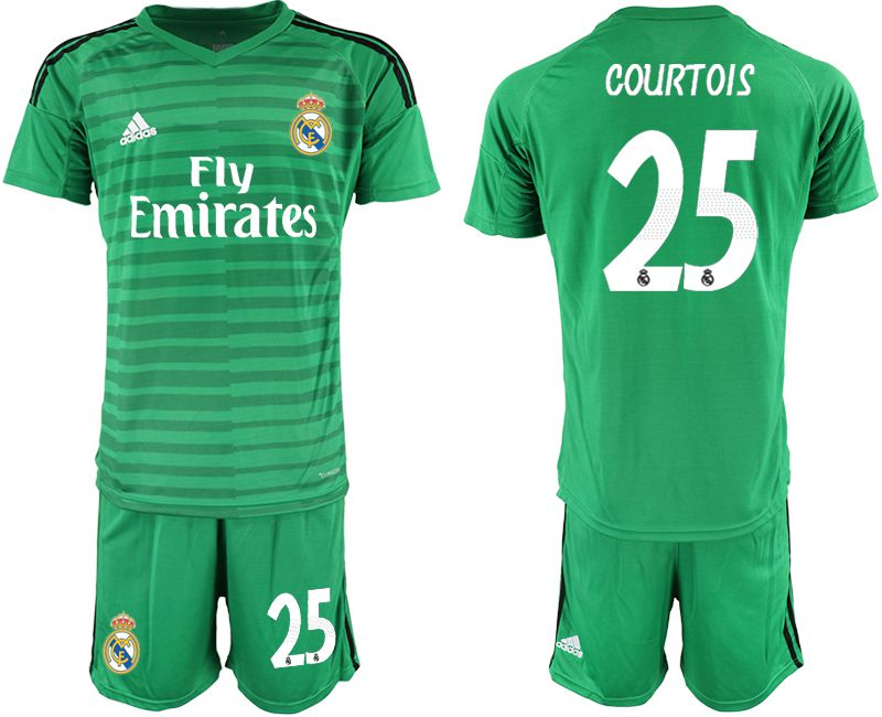Men 2019-2020 club Real Madrid green goalkeeper 25 Soccer Jerseys