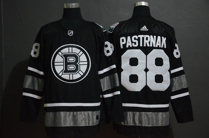 Men Boston Bruins 88 Pastrnak Black 2019 All Star NHL Jerseys