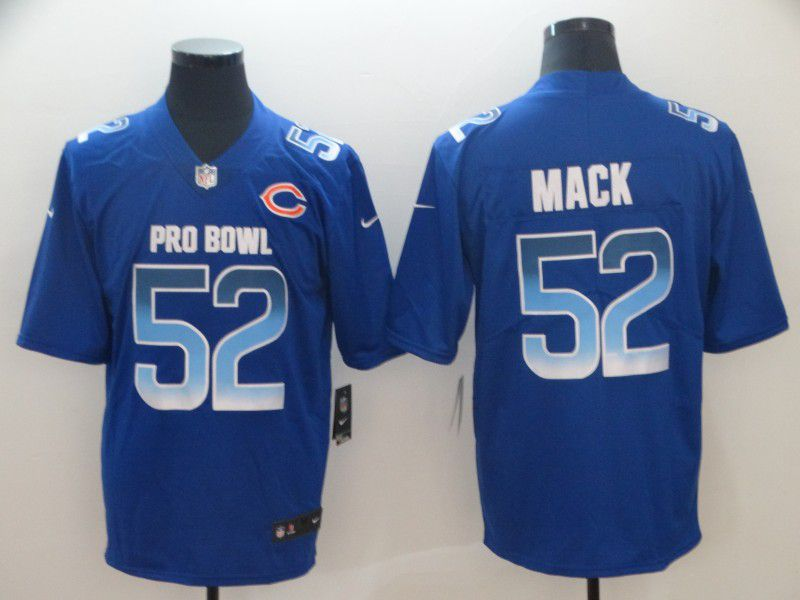 Men Chicago Bears 52 Mack Blue Nike Royal 2019 Pro Bowl Limited Jersey