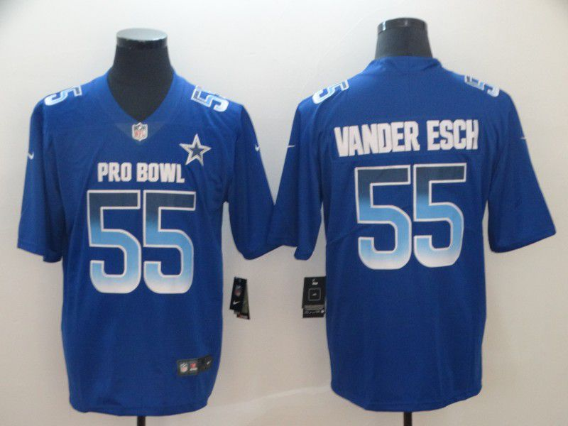 Men Dallas cowboys 55 Vander edch Blue Nike Royal 2019 Pro Bowl Limited Jersey