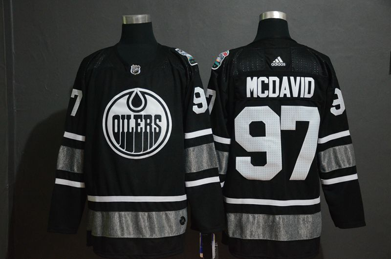 Men Edmonton Oilers 97 Mcdavid Black 2019 All Star NHL Jerseys