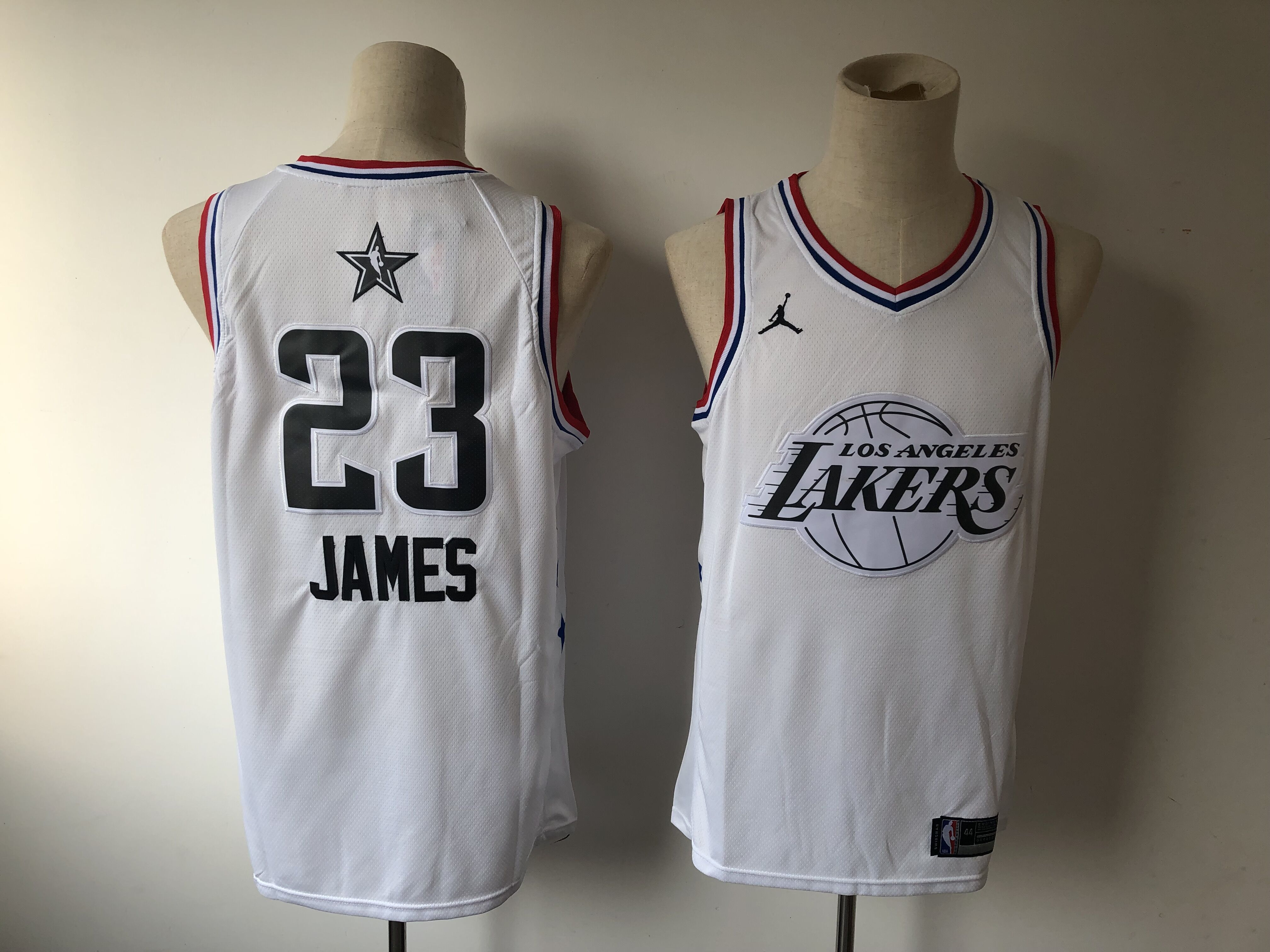 6342537f3 Men Los Angeles Lakers 23 James White 2019 All Star NBA Jerseys