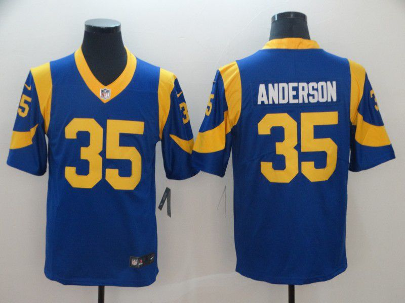 Men Los Angeles Rams 35 Anderson Blue Nike Vapor Untouchable Limited Player NFL Jerseys