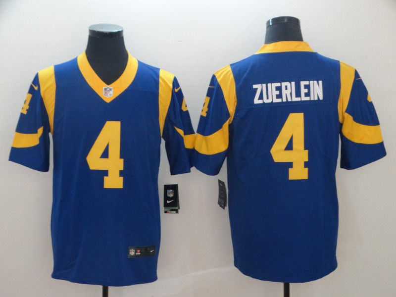 Men Los Angeles Rams 4 Zuerlein Blue Nike Vapor Untouchable Limited Player NFL Jerseys