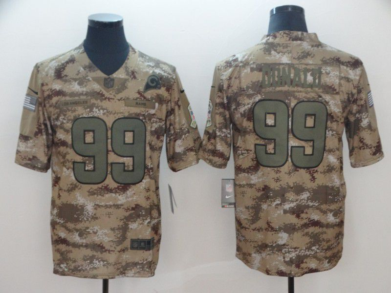 Men Los Angeles Rams 99 Donald Nike Camo Salute to Service Limited NFL Jersey