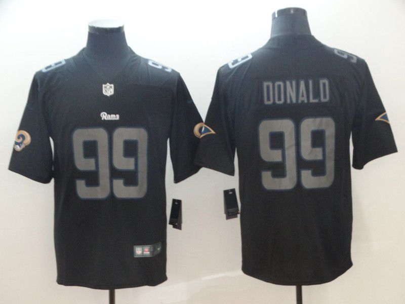 Men Los Angeles Rams 99 Donald Nike Fashion Impact Black Color Rush Limited NFL Jerseys
