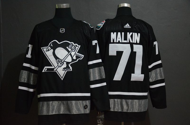 Men Pittsburgh Penguins 71 Malkin Black 2019 All Star NHL Jerseys