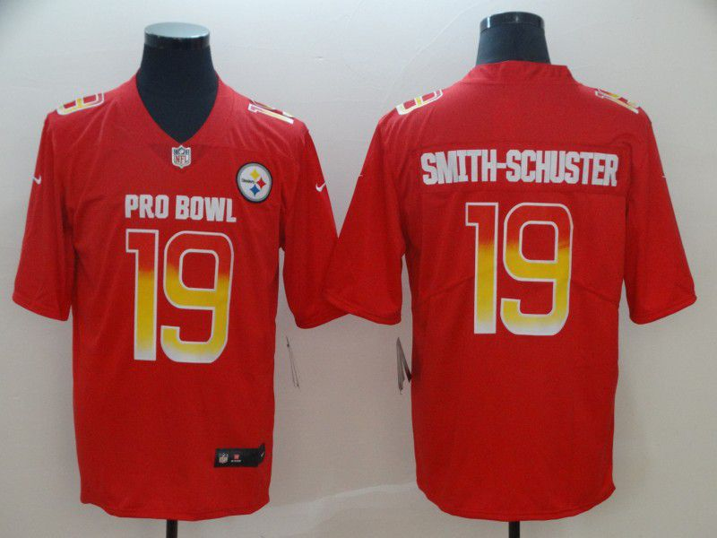 Men Pittsburgh Steelers 19 Smith.Schuster red Nike Royal 2019 Pro Bowl Limited Jersey