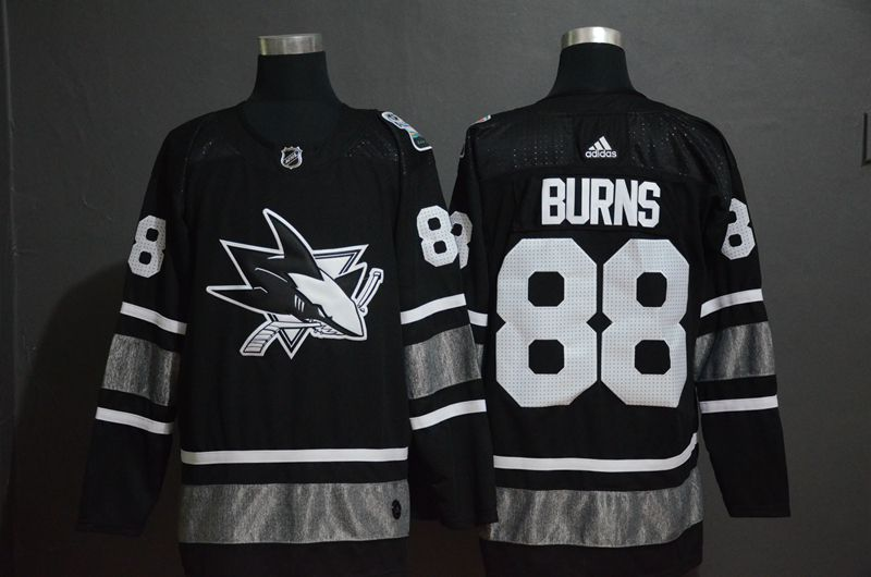 Men San Jose Sharks 88 Burns Black 2019 All Star NHL Jerseys