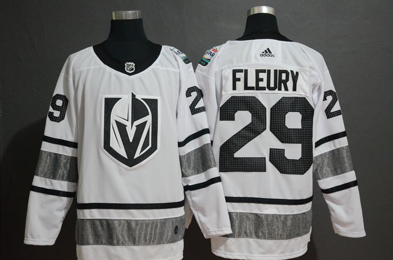 Men Vegas Golden Knights 29 Fleury White 2019 All Star NHL Jerseys