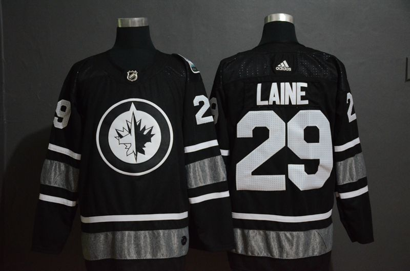 Men Winnipeg Jets 29 Laine Black 2019 All Star NHL Jerseys
