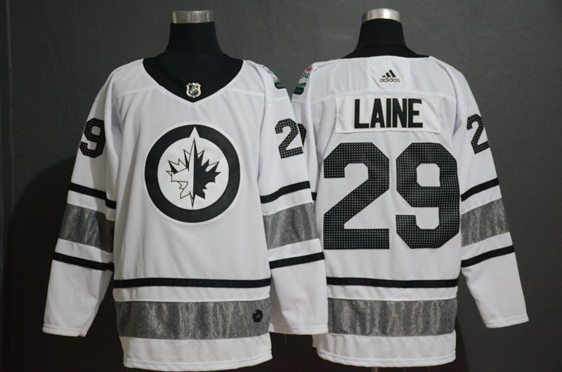 Men Winnipeg Jets 29 Laine White 2019 All Star NHL Jerseys
