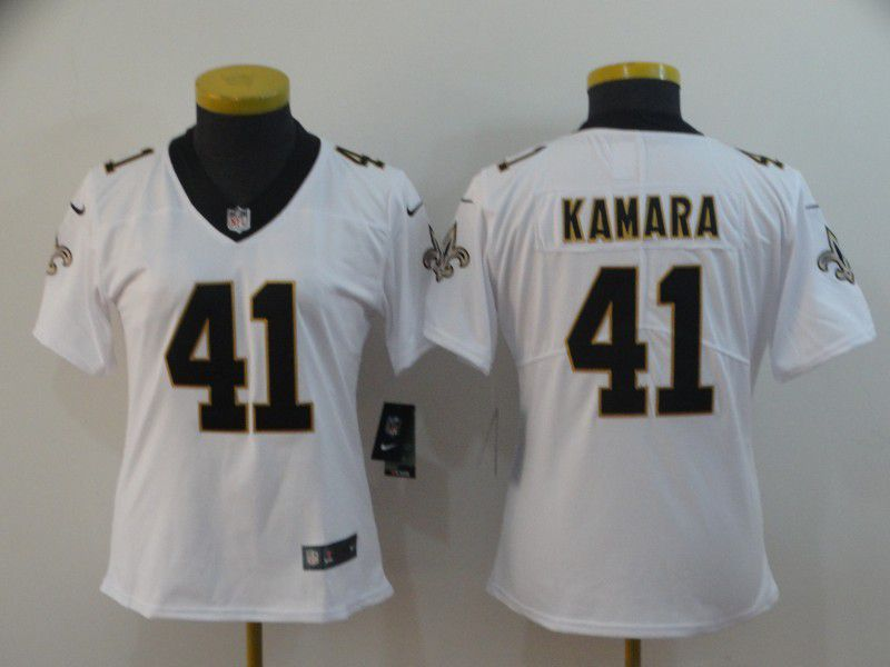Women New Orleans Saints 41 Kamara White Nike Vapor Untouchable Limited Player NFL Jerseys