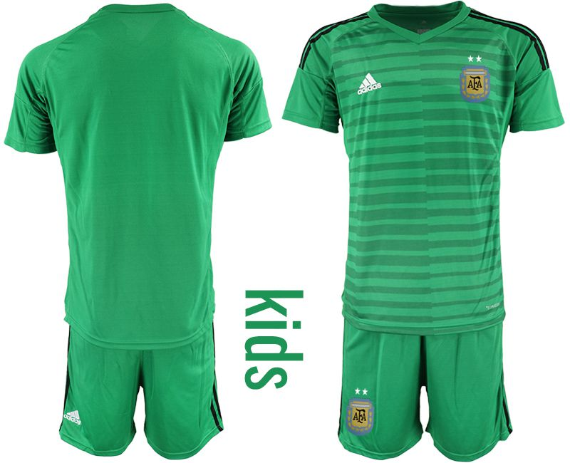 Youth 2018 World Cup Argentina green goalkeeper soccer jersey