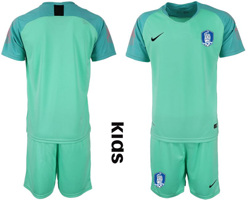 Youth 2018-2019 National Team Korea Republic Fruit green goalkeeper Soccer Jerseys