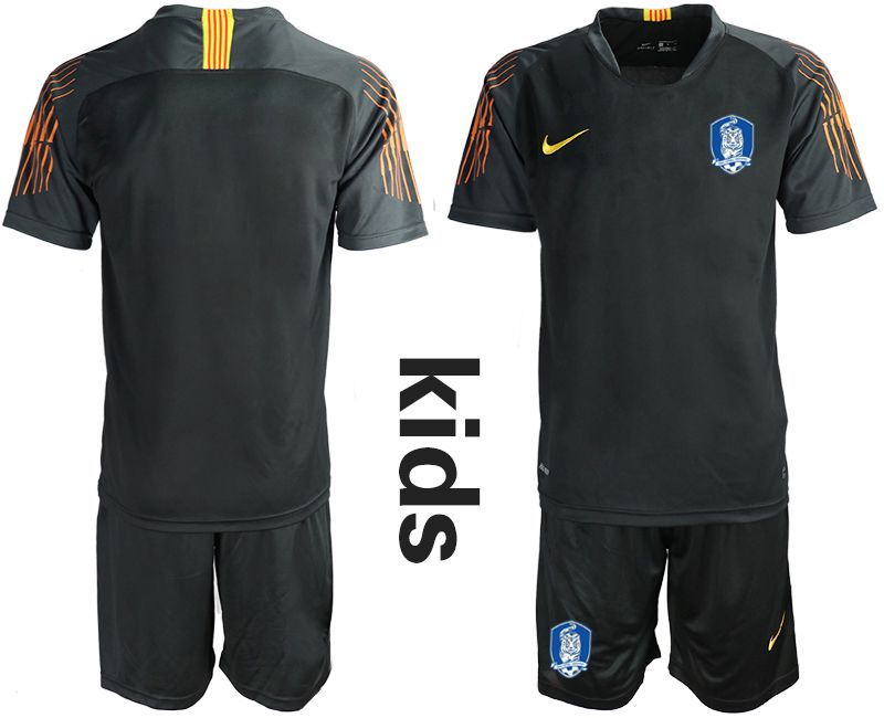 Youth 2018-2019 National Team Korea Republic black goalkeeper Soccer Jerseys
