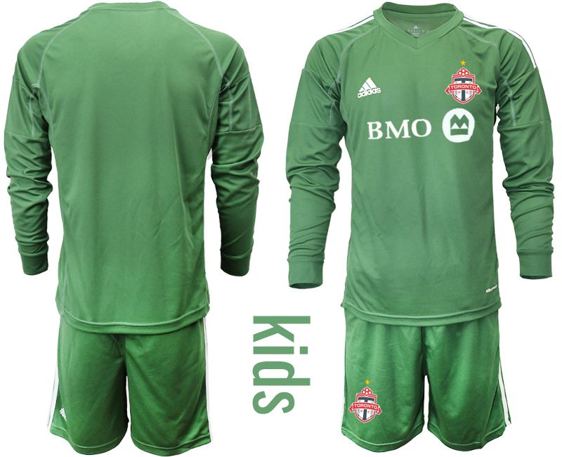 Youth 2018-2019 club Toronto FC army green long sleeve goalkeeper Soccer Jerseys