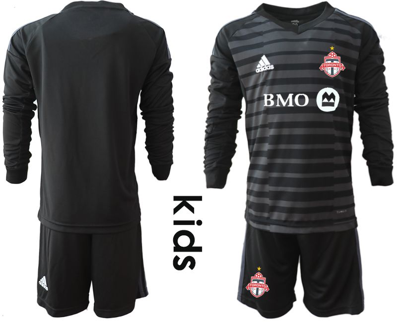 Youth 2018-2019 club Toronto FC black long sleeve goalkeeper Soccer Jerseys
