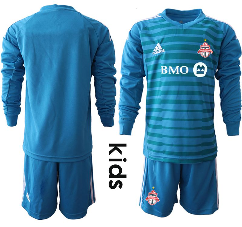 Youth 2018-2019 club Toronto FC blue long sleeve goalkeeper Soccer Jerseys