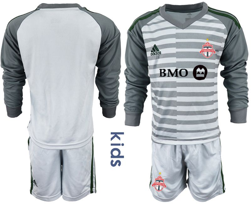 Youth 2018-2019 club Toronto FC gray long sleeve goalkeeper Soccer Jerseys