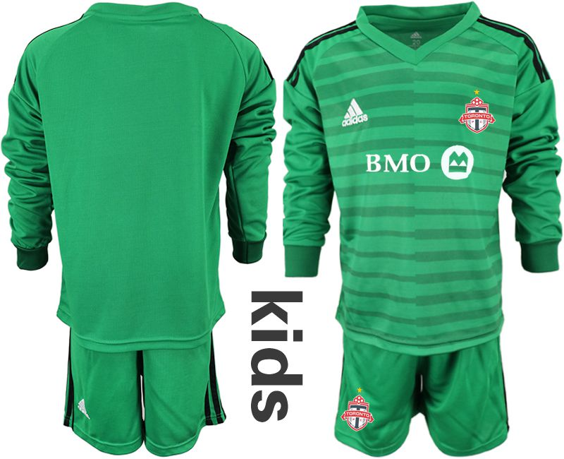 Youth 2018-2019 club Toronto FC green long sleeve goalkeeper Soccer Jerseys