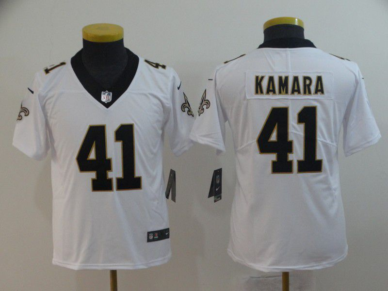 Youth New Orleans Saints 41 Kamara White Nike Vapor Untouchable Limited  Player NFL Jerseys 2b40c960d