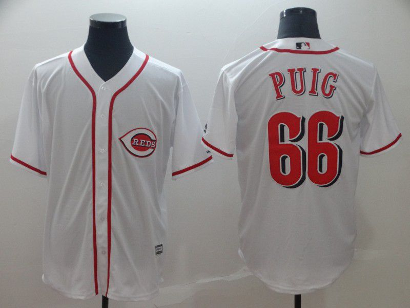 2019 MLB Men Cincinnati Reds 66 Puig white game Jerseys