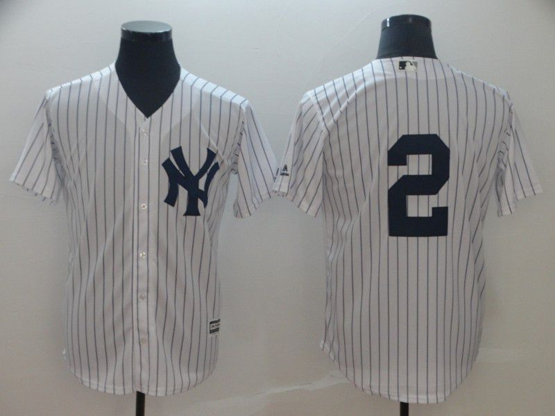 2019 MLB Men New York Yankees 2 Jeter white game Jerseys