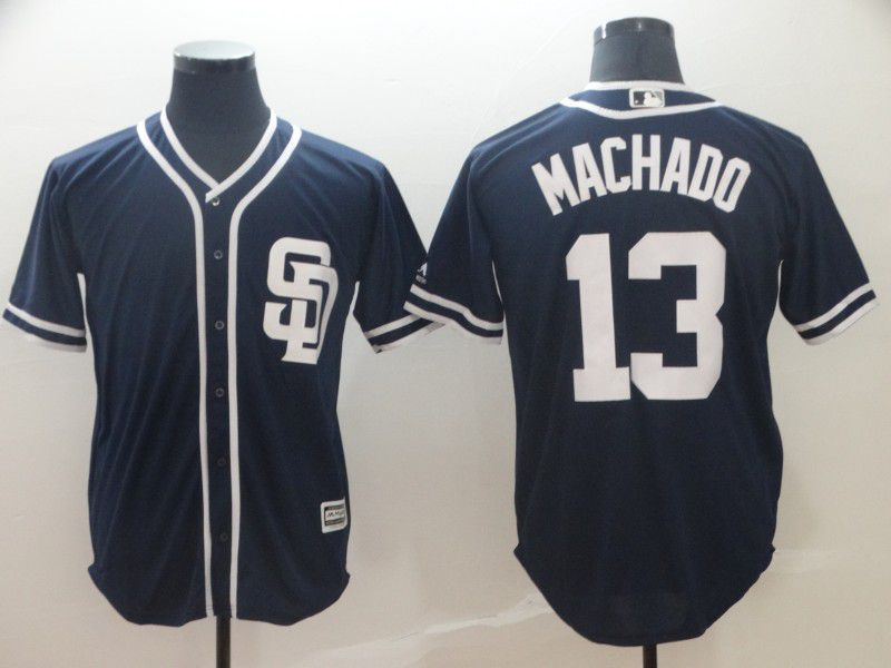 2019 MLB Men San Diego Padres 13 Machado blue game Jerseys