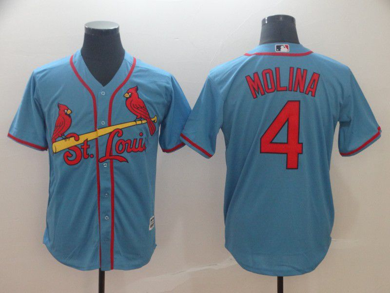 2019 MLB Men St.Louis Cardinals 4 Molina blue game Jerseys