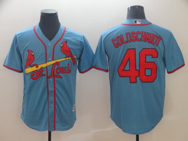 2019 MLB Men St.Louis Cardinals 46 Goldschmidt blue game Jerseys