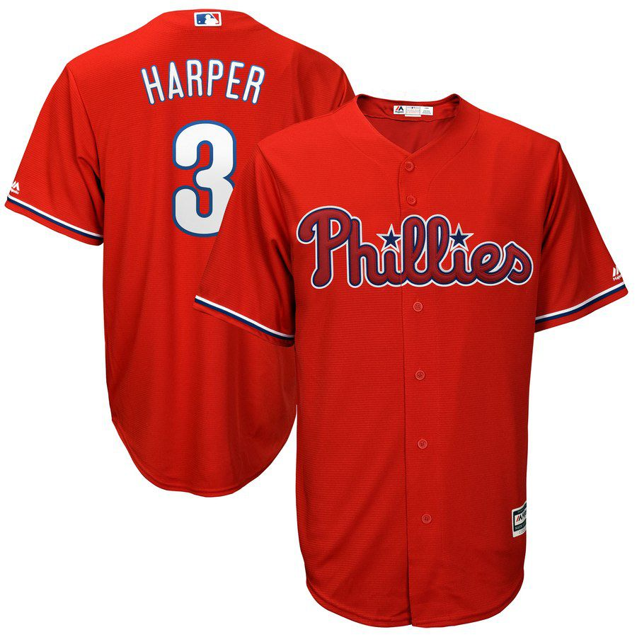 2019 MLB youth Philadelphia Phillies 3 Bryce Harper red Jerseys