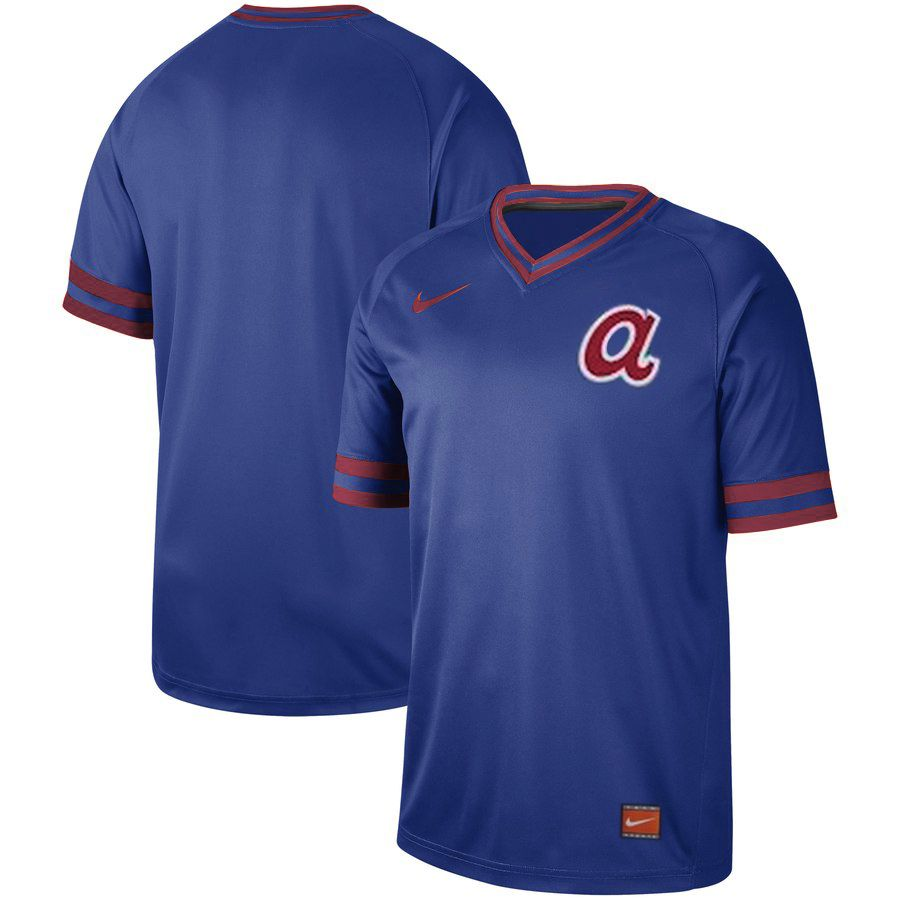 2019 Men MLB Atlanta Braves blank blue Nike Cooperstown Collection Jerseys