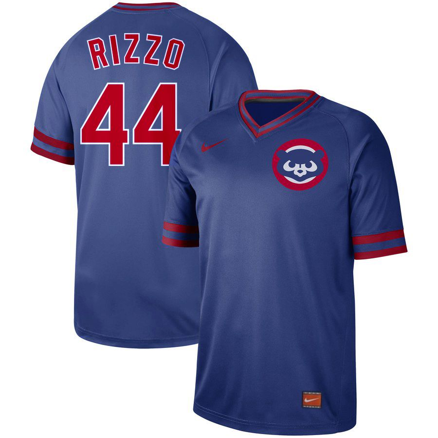 2019 Men MLB Chicago Cubs 44 Rizzo blue Nike Cooperstown Collection Jerseys