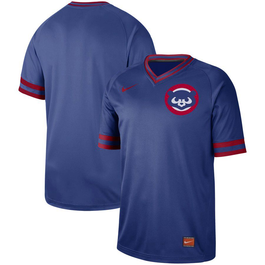 2019 Men MLB Chicago Cubs blank blue Nike Cooperstown Collection Jerseys