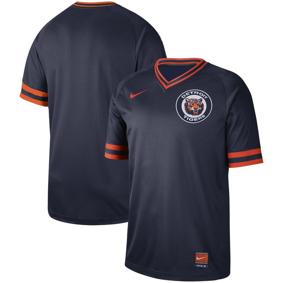 2019 Men MLB Detroit Tigers blank blue Nike Cooperstown Collection Jerseys