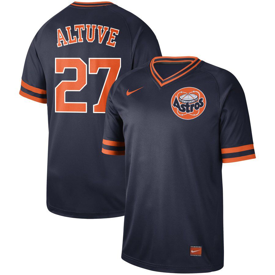 2019 Men MLB Houston Astros 27 Altuve blue Nike Cooperstown Collection Jerseys