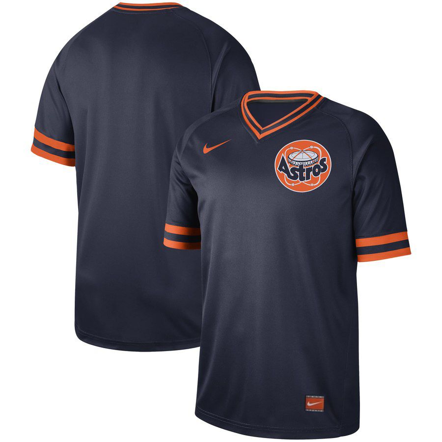 2019 Men MLB Houston Astros blank blue Nike Cooperstown Collection Jerseys
