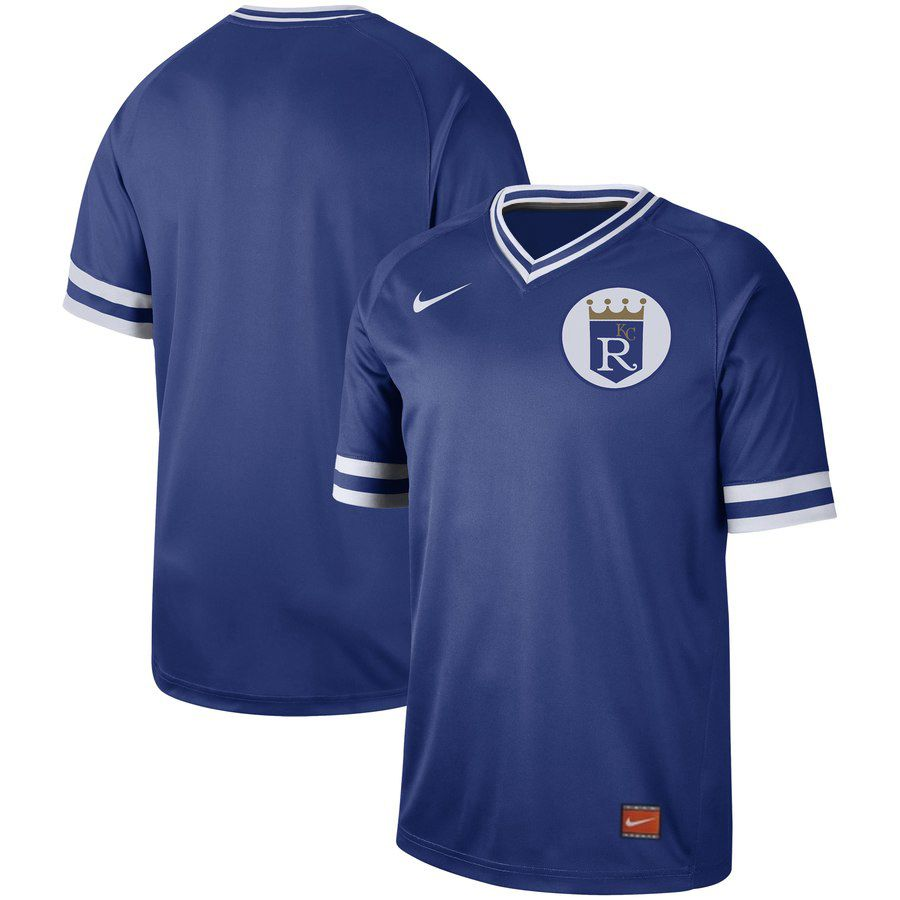 2019 Men MLB Kansas City Royals blank blue Nike Cooperstown Collection Jerseys