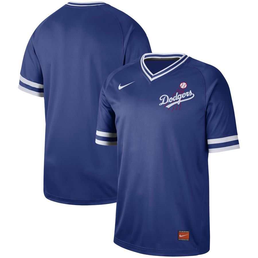 2019 Men MLB Los Angeles Dodgers blank blue Nike Cooperstown Collection Jerseys