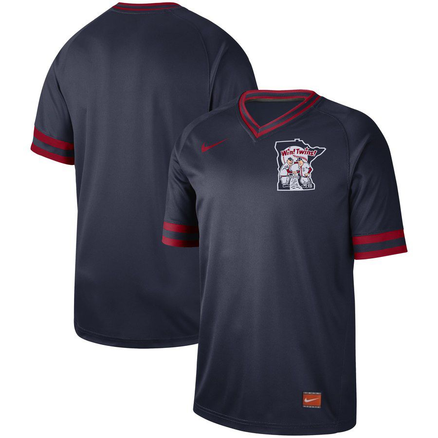 2019 Men MLB Minnesota Twins blank blue Nike Cooperstown Collection Jerseys