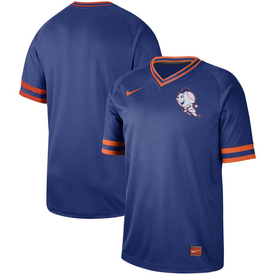 2019 Men MLB New York Mets blank blue Nike Cooperstown Collection Jerseys