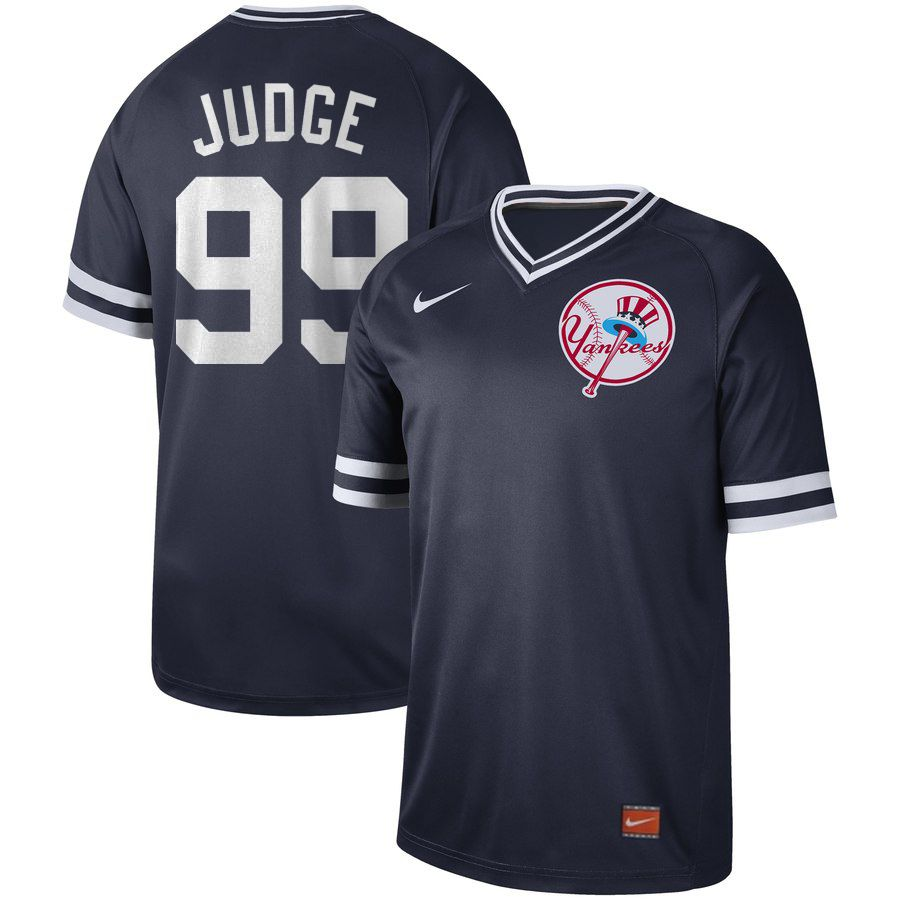 2019 Men MLB New York Yankees 99 Judge blue Nike Cooperstown Collection Jerseys