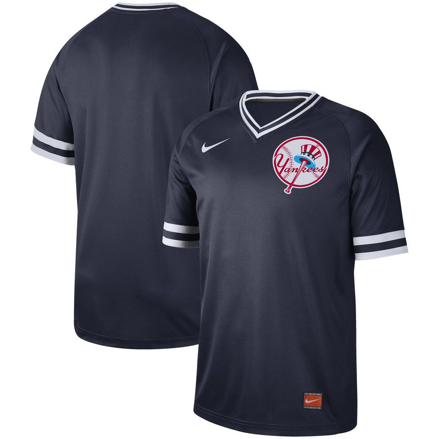2019 Men MLB New York Yankees blank blue Nike Cooperstown Collection Jerseys