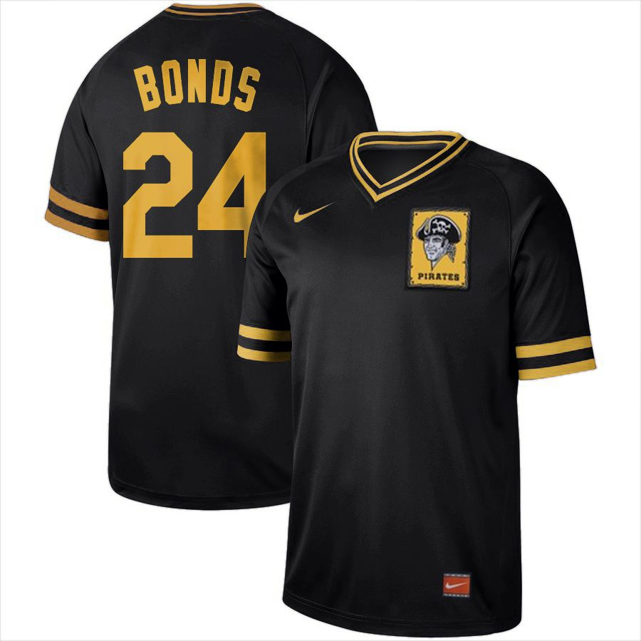 2019 Men MLB Pittsburgh Pirates 24 Bonds black Nike Cooperstown Collection Jerseys