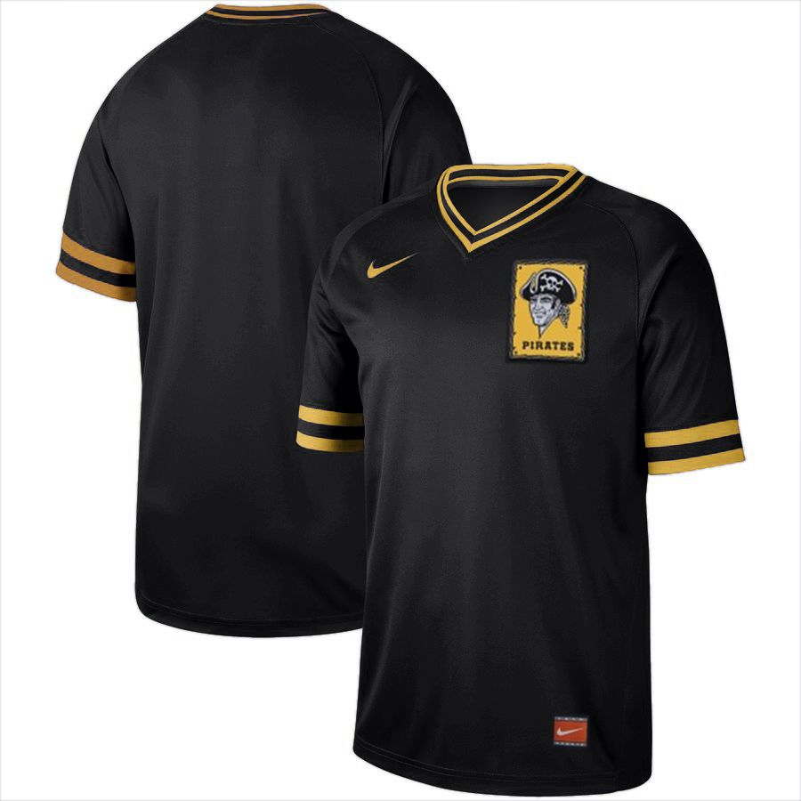 2019 Men MLB Pittsburgh Pirates blank black Nike Cooperstown Collection Jerseys