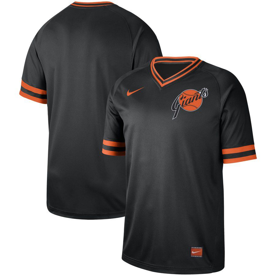 2019 Men MLB San Francisco Giants blank black Nike Cooperstown Collection Jerseys